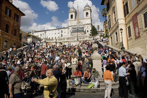 Spanish Steps Art Print featuring the photograph Famoust Spanish Steps In Rome by Charles Ridgway