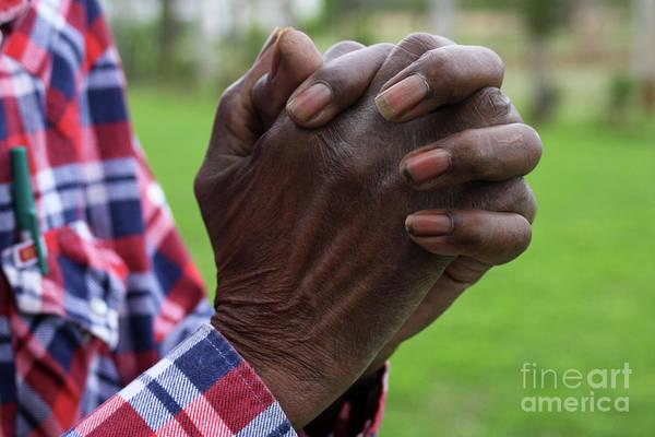 Hands Art Print featuring the photograph Farmers Prayer by Joy Tudor