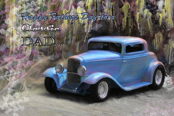 Digital Art Art Print featuring the painting Fathers Day Classic Dad by Susan Kinney