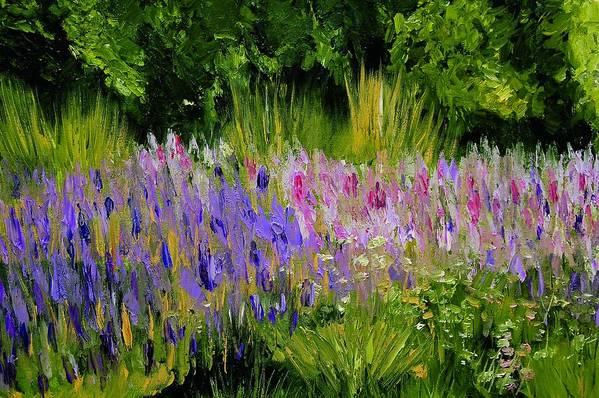 Konkol Art Print featuring the painting Fields Of Purple by Lisa Konkol