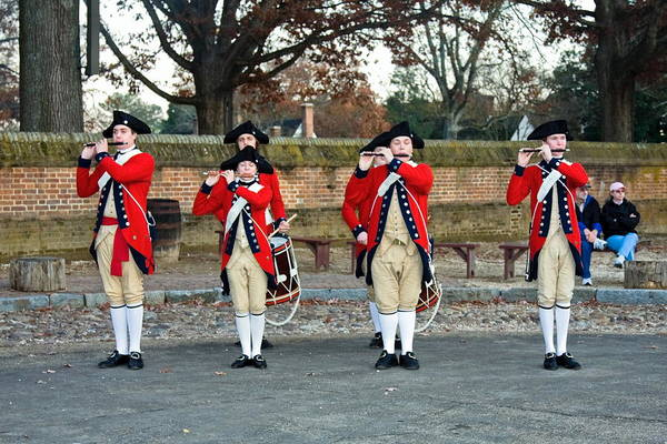 Fifes And Drums Art Print featuring the photograph Fifes And Drums by Sally Weigand