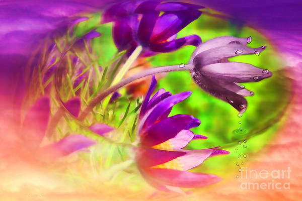 Floral Art Print featuring the digital art Fighting Circumstances by Cathy Beharriell