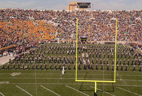 University Of Notre Dame Art Print featuring the photograph Fighting Irish Marching Band by David Bearden