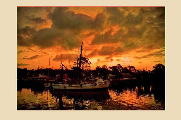 Color Photograph Art Print featuring the photograph Fire In The Morning by Wayne Denmark