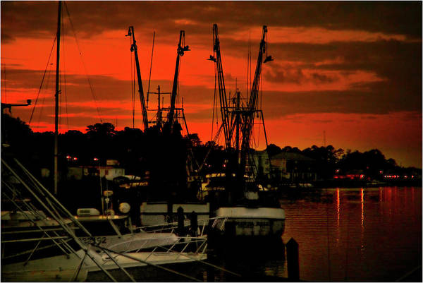 Color Photograph Art Print featuring the photograph Fire In The Sky by Wayne Denmark