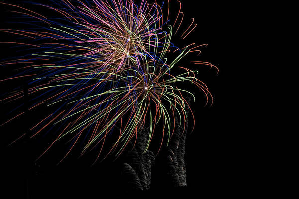 Colors Art Print featuring the photograph Fire Works by Kelly Schuler
