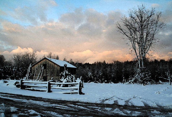 Landscapes Art Print featuring the photograph First Snow by Linda Joyce Ott