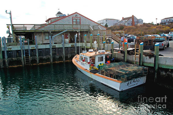 Fish Pier Art Print featuring the photograph Fishing Boat At Chatham Fish Pier by Matt Suess