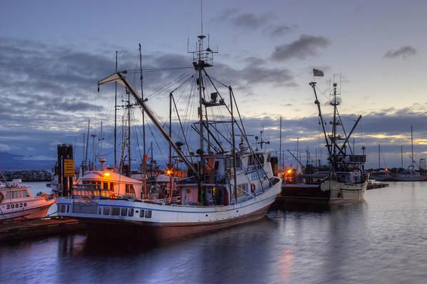 Fishing Boats Art Print featuring the photograph Fishing Fleet by Randy Hall