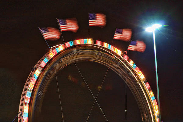 Carnival Images Art Print featuring the photograph Five Flags by James BO Insogna