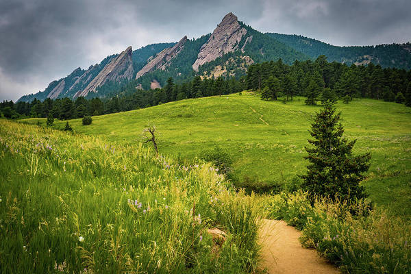 Landscape Art Print featuring the photograph Flatirons by Aaron D Kelly