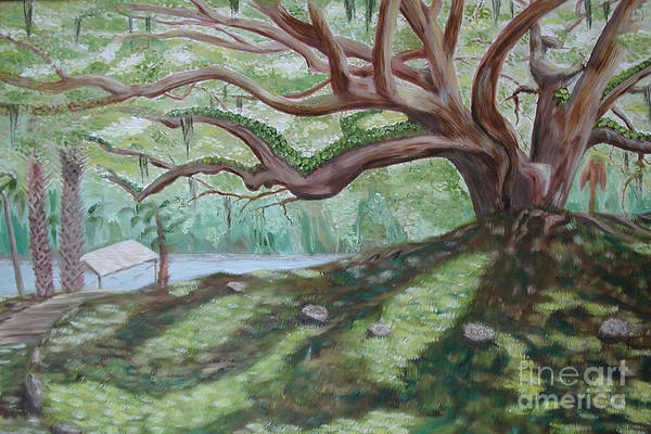 Landscape Art Print featuring the painting Fletcher by Sodi Griffin