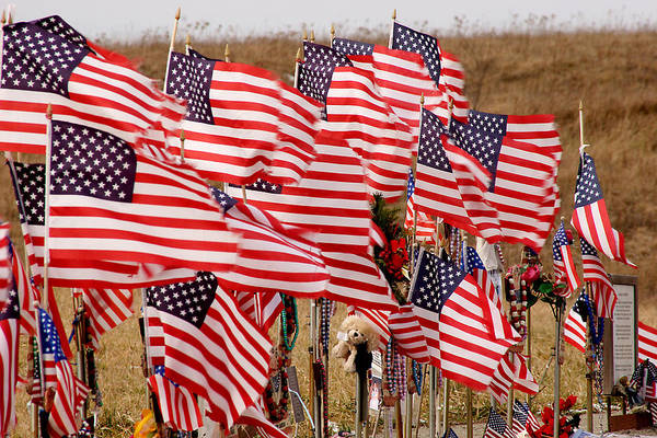 Flags Art Print featuring the photograph Flight 93 Flags by Jean Macaluso