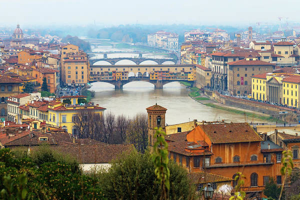 Horizontal Art Print featuring the photograph Florence Italy by Photography By Spintheday