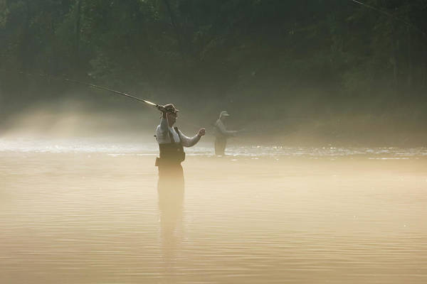 Man Art Print featuring the photograph Fly Fishing by Betty LaRue