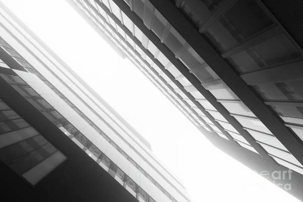 Architecture Art Print featuring the photograph Fog Technopolis by Tapio Koivula