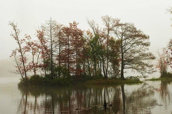Landscape Art Print featuring the photograph Fog On The River by Bill Perry