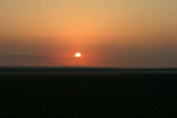Sun Rise Art Print featuring the photograph Foggy Sun Rise by Kevin Dunham