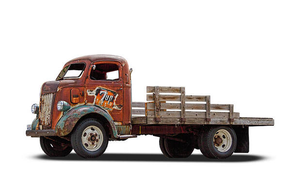 Ford Art Print featuring the photograph Ford Classic 7 Up Truck by Nick Gray