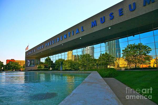 Ford Museum Art Print featuring the photograph Ford Presidential Museum by Robert Pearson