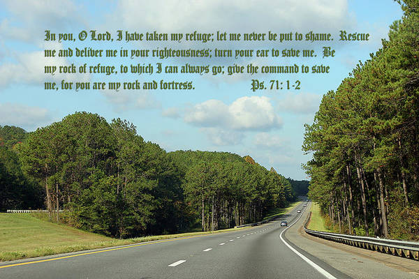 Scripture Art Print featuring the photograph Forest Highway Ps.71 V 1-2 by Linda Phelps