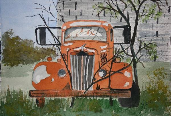 Truck Art Print featuring the painting Forgotten by Michele Turney