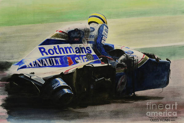 Formula One Art Print featuring the painting Formula Alone by Oleg Konin