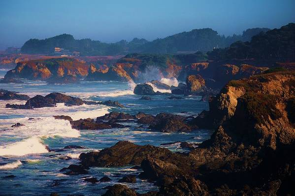 Fort Bragg Art Print featuring the photograph Fort Bragg Coastline by Helen Carson