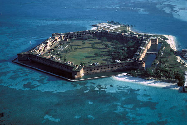 Fort Art Print featuring the photograph Fort Jefferson by Carl Purcell