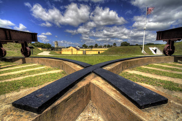 Fort Art Print featuring the photograph Fort Moultrie Cannon Tracks by Dustin K Ryan