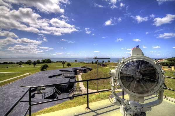 Fort Art Print featuring the photograph Fort Moultrie Signal Light by Dustin K Ryan