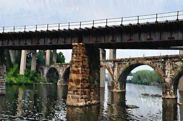 Bridge Art Print featuring the photograph Four Bridges Of East Falls by Bill Cannon