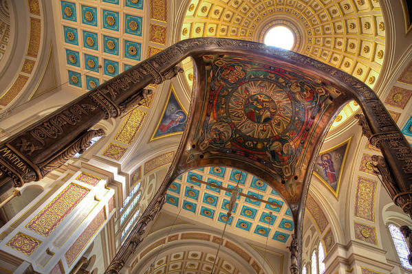 Hdr Art Print featuring the photograph Franciscan Monastery II by Irene Abdou