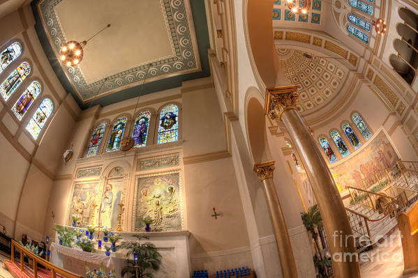 Hdr Art Print featuring the photograph Franciscan Monastery Iv by Irene Abdou