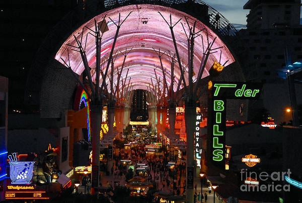 Fremont Street Art Print featuring the photograph Fremont Street by David Lee Thompson