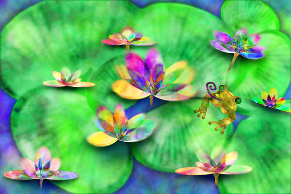 Frog Art Print featuring the digital art Froggy by Gae Helton