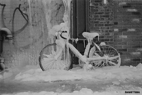 Bicycle Art Print featuring the photograph Frozen Bike by Gerard Yates