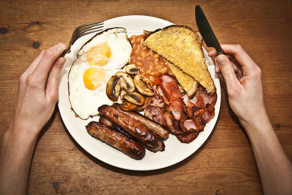 Fry Up Art Print featuring the photograph Full English Breakfast by Sally Anscombe