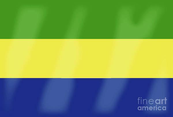 Gabon Art Print featuring the digital art Gabon Flag by Bigalbaloo Stock