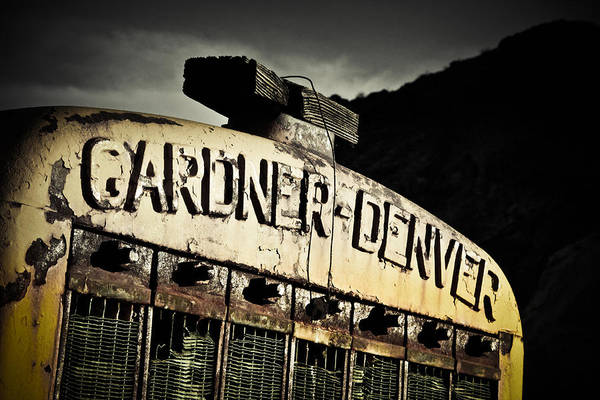 Industrial Art Print featuring the photograph Gardner Denver by Merrick Imagery