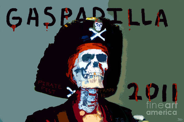 Gasparilla Pirate Festival Art Print featuring the painting Gasparilla 2011 Work Number Two by David Lee Thompson