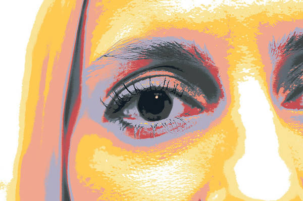 Blonde Art Print featuring the mixed media Gaze by Shay Culligan