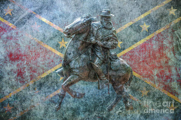 Ghost Of Gettysburg Art Print featuring the digital art Ghost Of Gettysburg Verson Three by Randy Steele