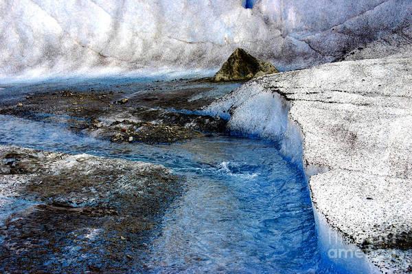Glacier Art Print featuring the photograph Glacial Stream by Valerie Fuqua