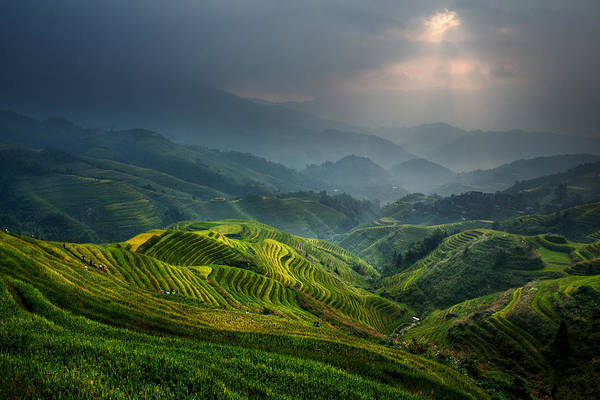 Landscape Art Print featuring the photograph Glimmer Of Light by Gunarto Song