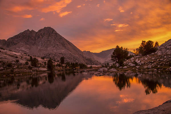 King's Canyon Art Print featuring the photograph Glorious Sierra Sunset by Doug Scrima