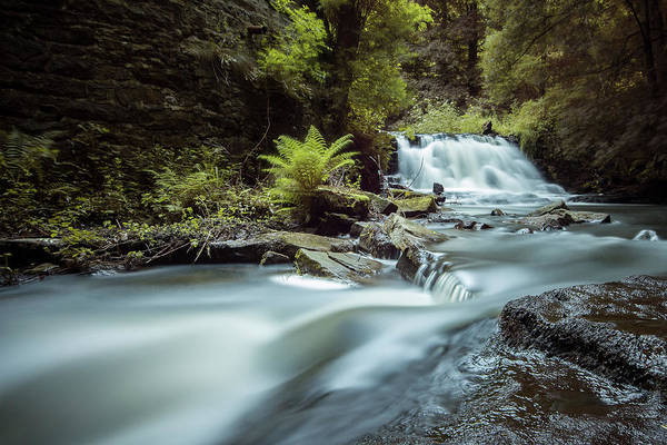 Falls Art Print featuring the photograph Goitstock Mill Waterfall by Gary Turner