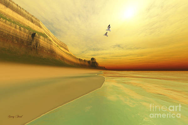 Seagull Art Print featuring the painting Gold Coast by Corey Ford