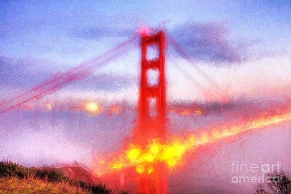 Golden Gate Bridge Art Print featuring the painting Golden Gate Bridge IIi by Francine Collier