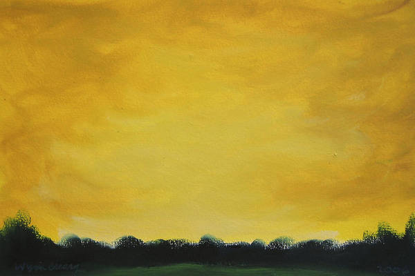 Abstract Art Print featuring the painting Golden Skyline by Wynn Creasy